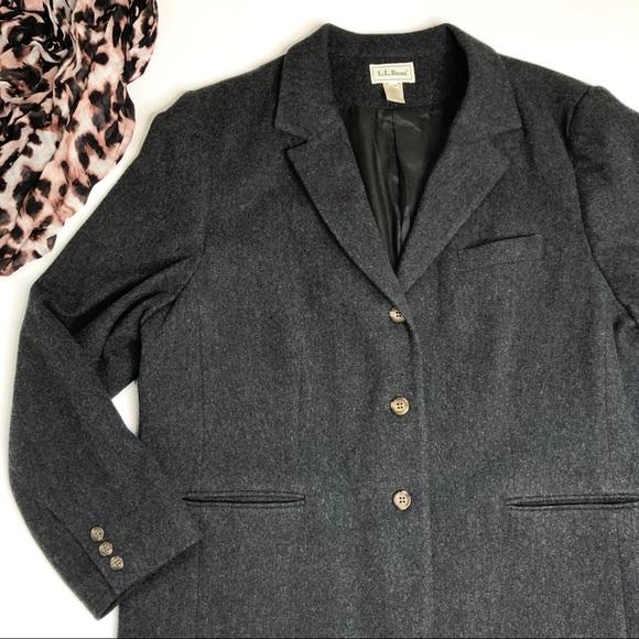 L.L. Bean Jackets & Blazers - LL Bean Coat Blazer Peacoat Dark Grey Charcoal